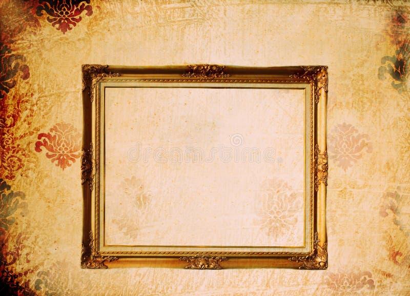 Photoframe auf Weinlesepapier lizenzfreie stockbilder
