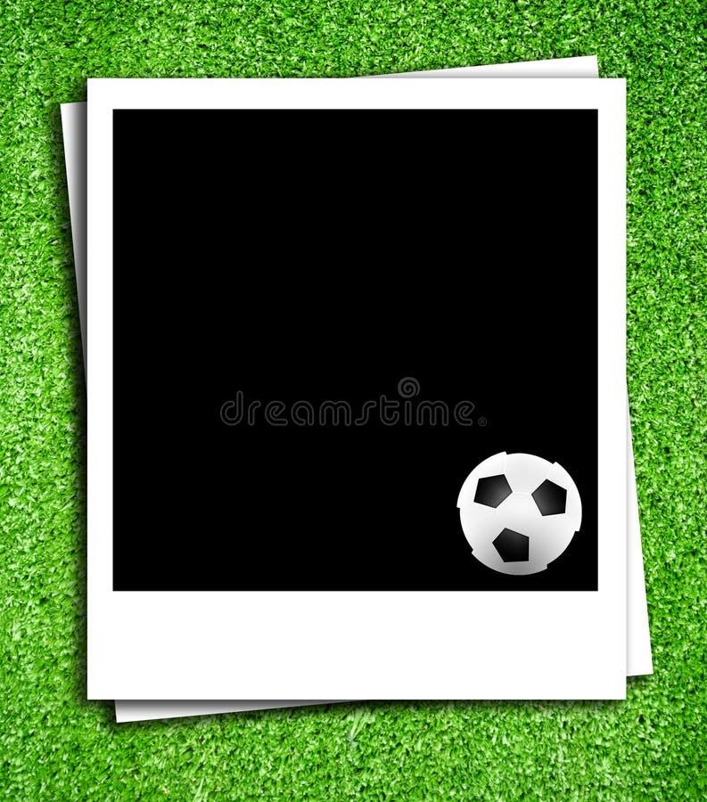 Photoframe avec la bille de football illustration de vecteur