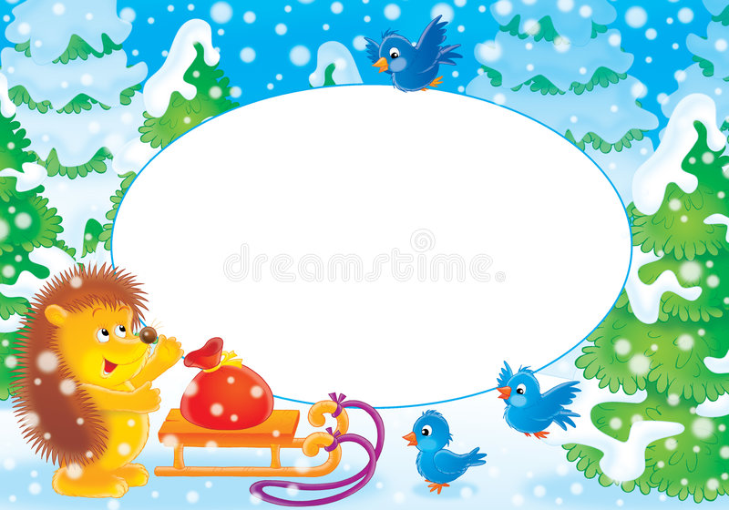 Photoframe del nuovo anno illustrazione di stock