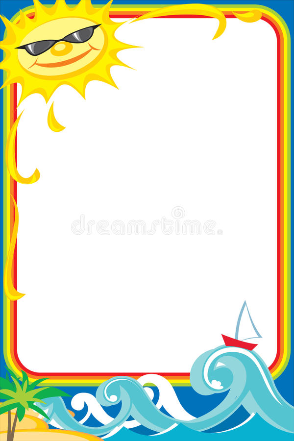 Download Photoframe sea stock vector. Illustration of cheerful - 14974158