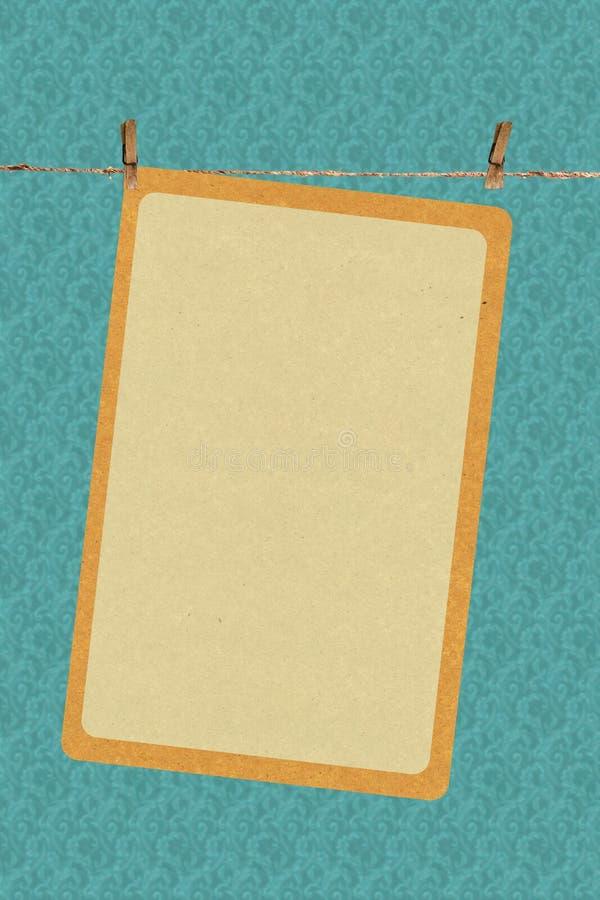 Photoframe velho ilustração do vetor