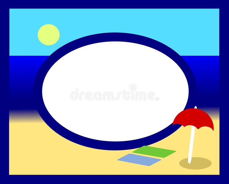 photoframesommar stock illustrationer