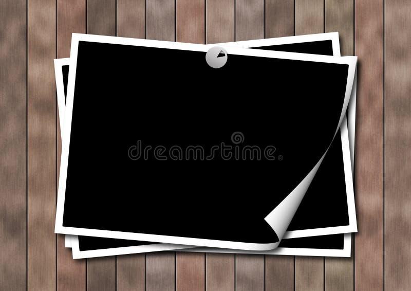 photoframework επιφάνεια ξύλινη ελεύθερη απεικόνιση δικαιώματος