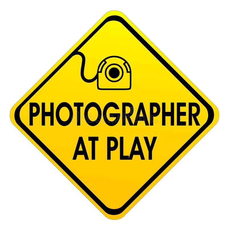 Photogarpher no jogo fotos de stock