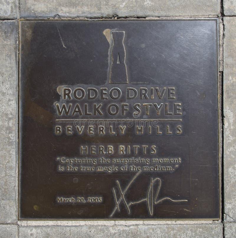 Photograher honorning Herb Ritts de mode de plaque photo libre de droits