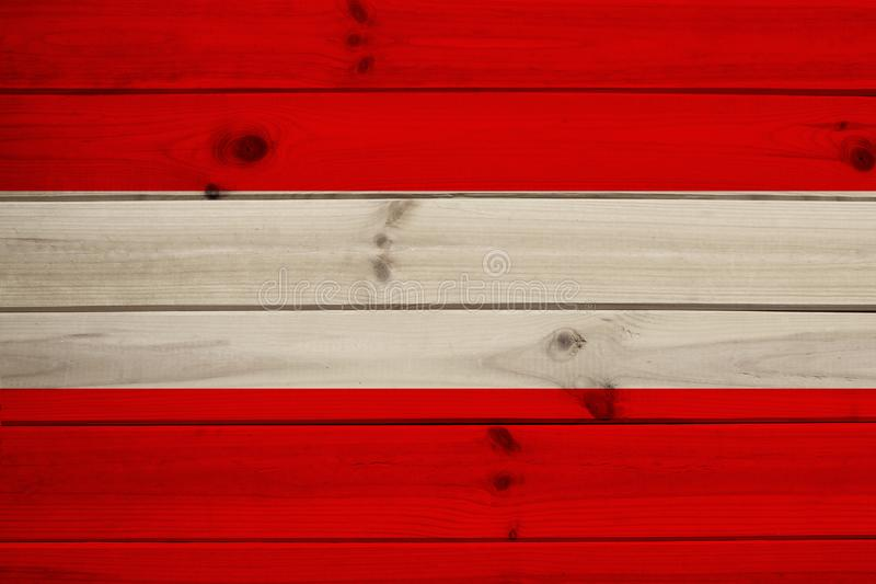 Photograph of the beautiful colored national flag of the modern state of Austria on textured fabric, concept of tourism, economics. And politics, close-up stock image