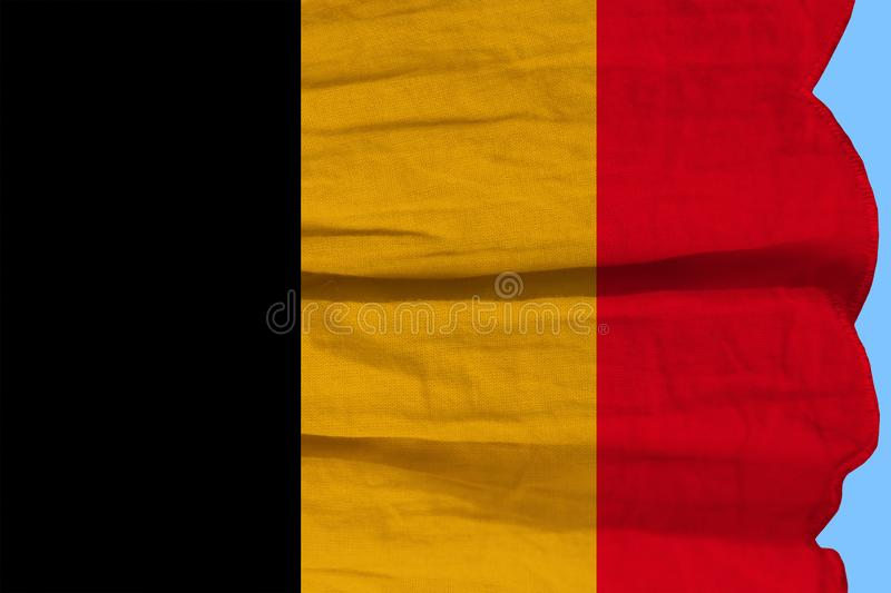 Photograph of the beautiful colored national flag of the modern state of Germany on textured fabric, concept of tourism, economics. And politics royalty free stock photo