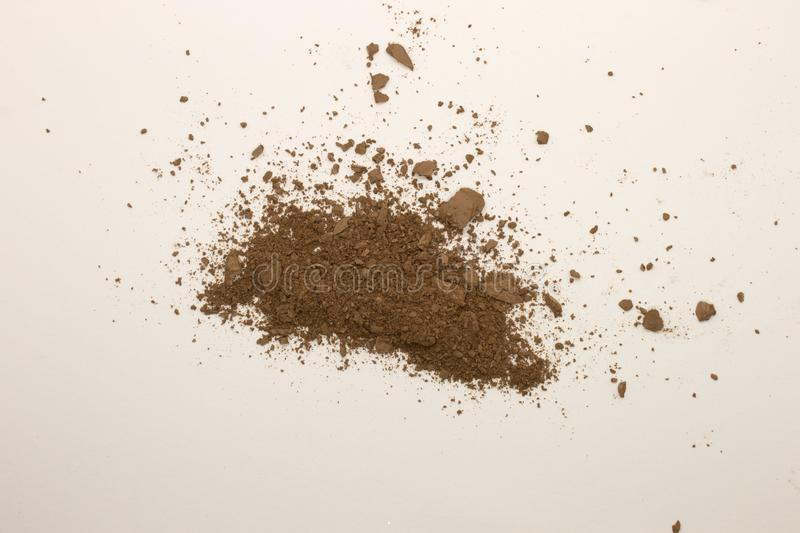 Bronzer powder. This is a photograph of a Bronzer powder makeup isolated on a White background stock photos