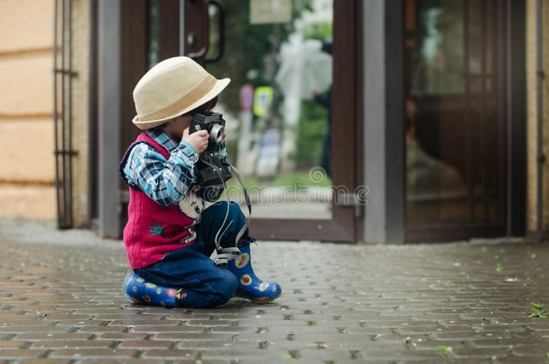 Photograph, Child, Sitting, Snapshot royalty free stock photos
