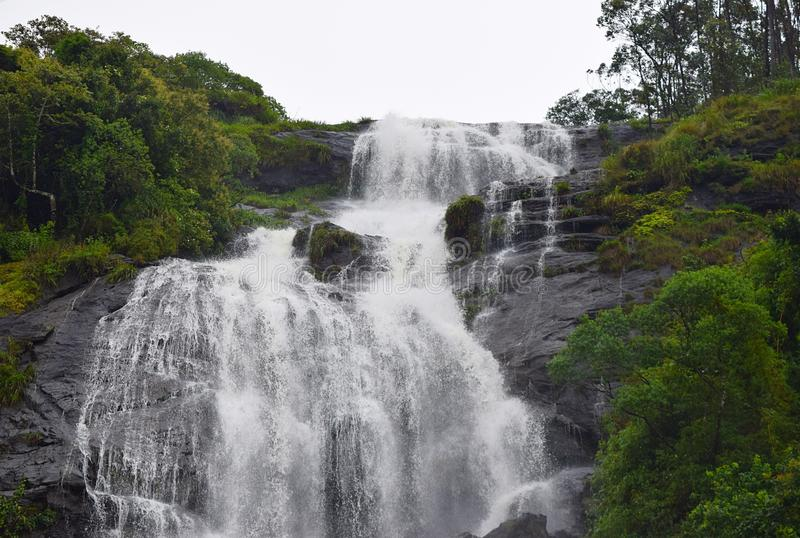 Powerhouse Waterfalls at Periyakanal, near Munnar, Kerala, India. This is a photograph of Chinnakanal waterfalls, also known as power house waterfalls, situated stock images