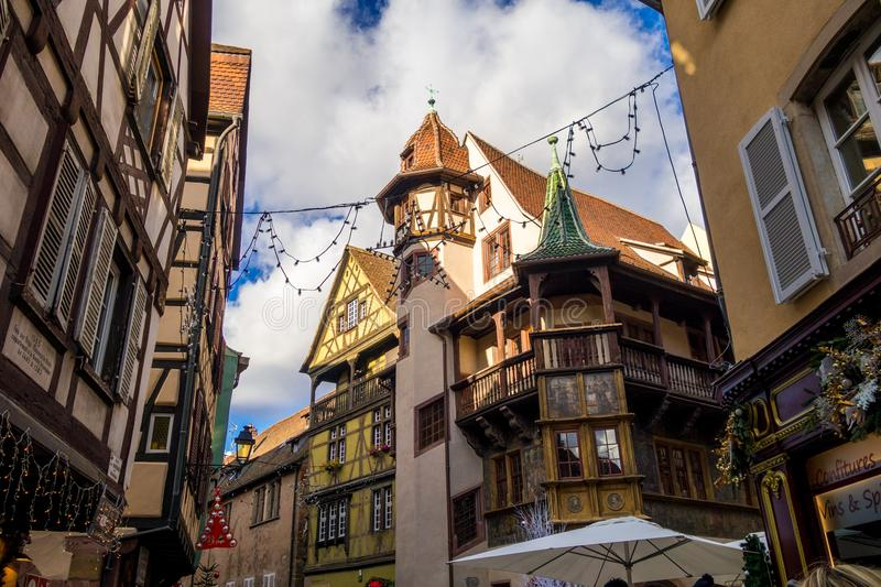 Download Colmar in christmas editorial stock image. Image of visitors - 106269244