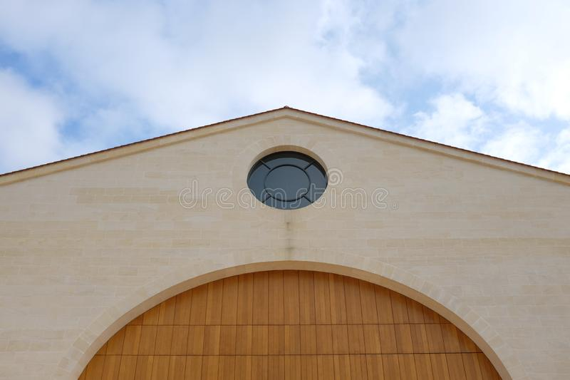 French famous winery. Photograph of a famous french winery of the medoc region stock images