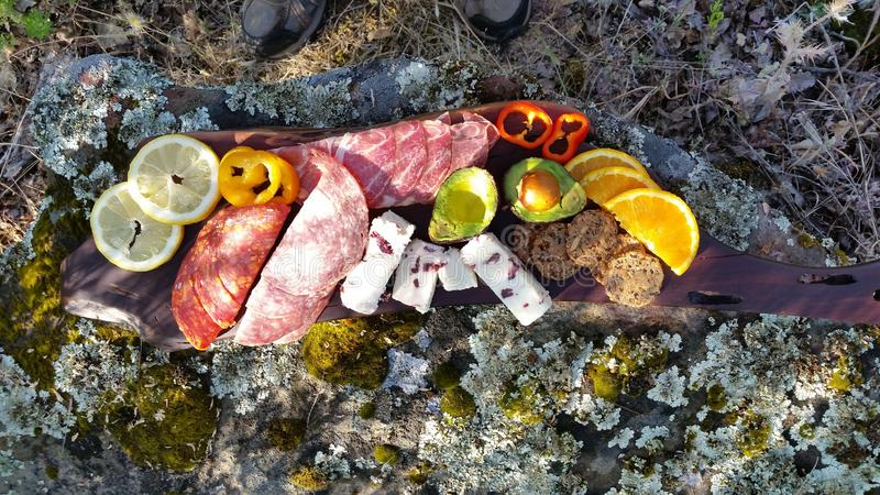 Photograph of Finger Foods Appetizers Outdoors royalty free stock photography