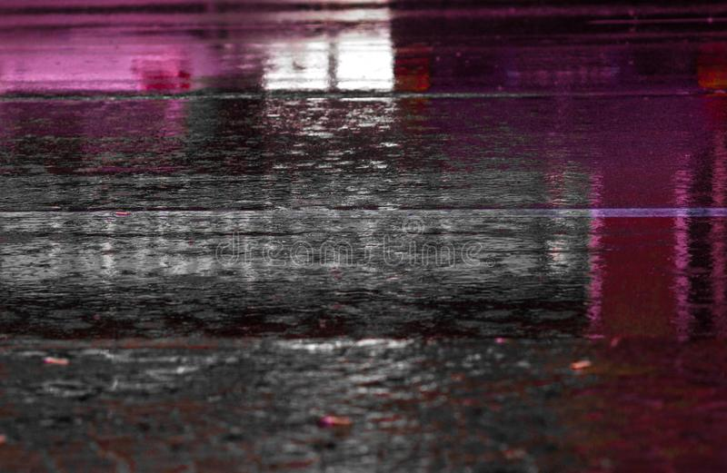 Photograph of a paved road during the rain. background. Background check free stock photography