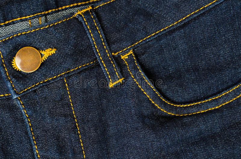 Photograph of a piece of denim fabric royalty free stock image