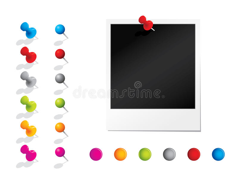 Photograph With Pins Royalty Free Stock Photo