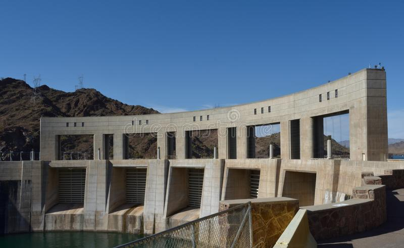 A Photograph taken of one of many Dams in Arizona stock images