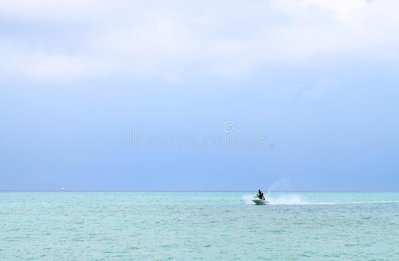Water Sports Activity - Jet Skiing - Rampur, Neil Island, Andaman Nicobar Islands, India. This is a photograph of water sports activity - Jet Skiing or Personal royalty free stock image