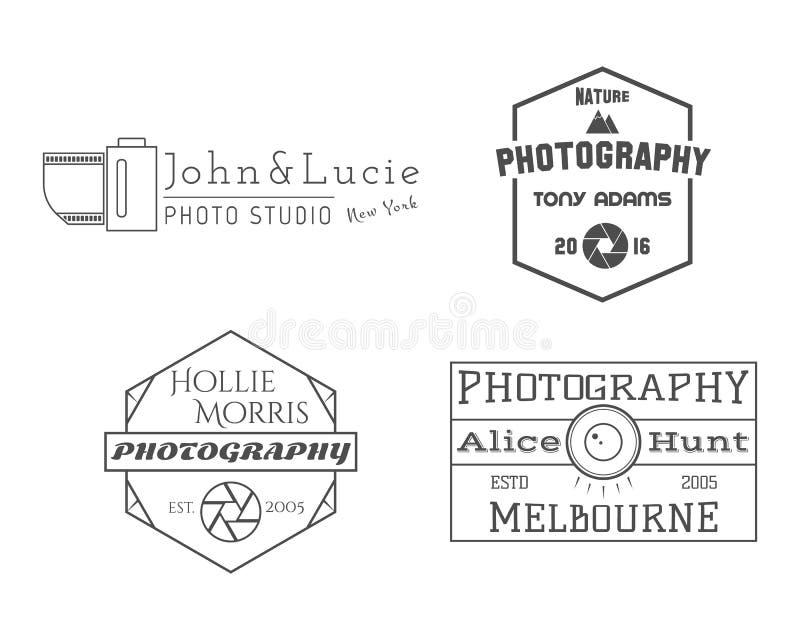 Photographe Badges et labels dans le style de vintage illustration de vecteur