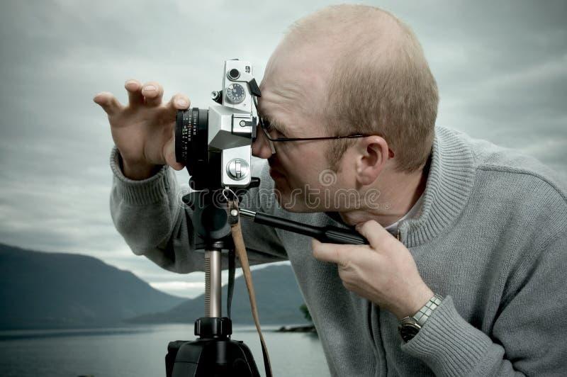 Photographe d'horizontal photo stock