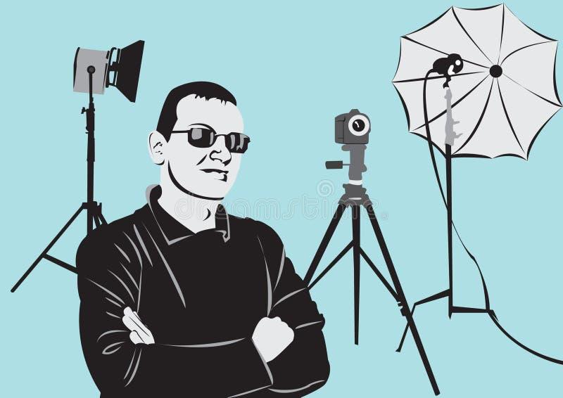 Download Photographe Dans Le Studio De Photo Illustration de Vecteur - Illustration du people, homme: 4350418