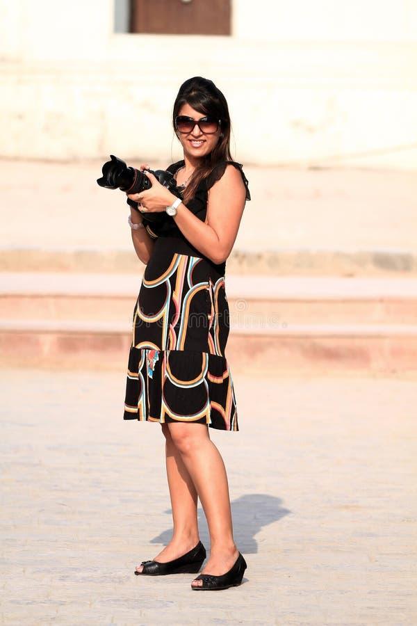Photographe de fille images libres de droits