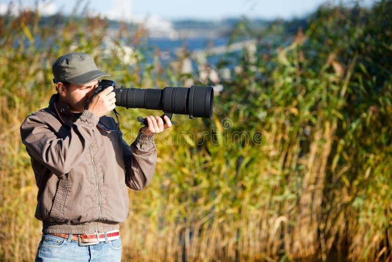 Photographe de nature image stock