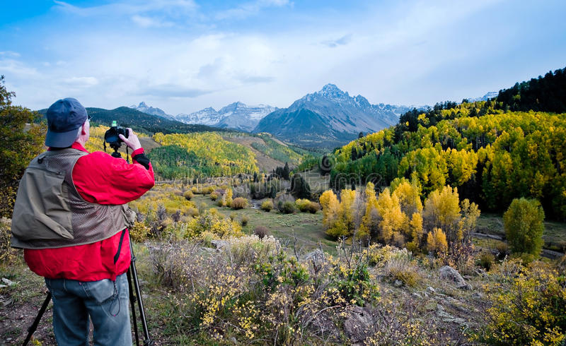 Photographe de nature dans le Colorado photos stock