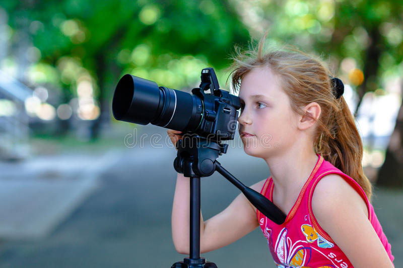 Photographe de petite fille photos stock