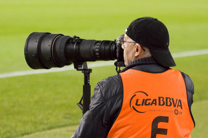 Photographe de sport photographie stock