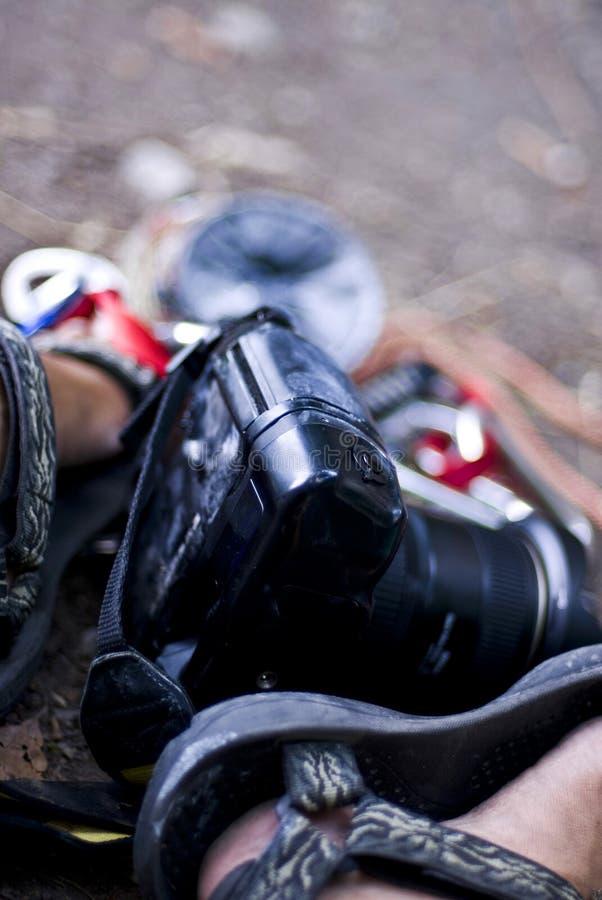 Photographe de trekking photographie stock libre de droits