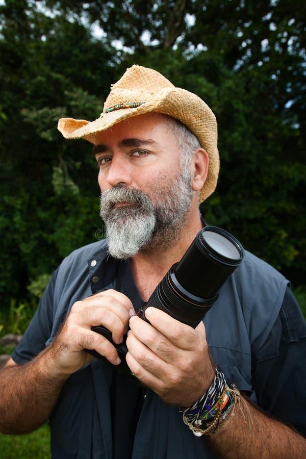 Photographe extérieur photographie stock