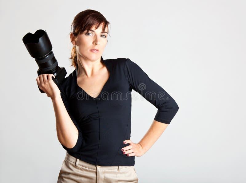 Photographe féminin image libre de droits