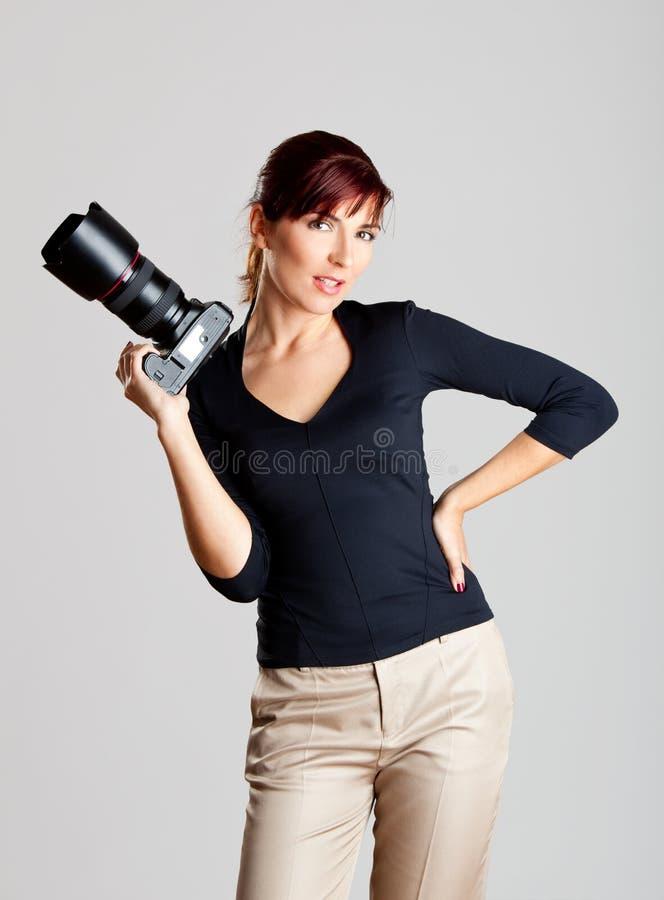 Photographe féminin photos libres de droits