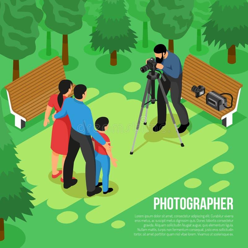 Photographe Isometric Composition illustration libre de droits