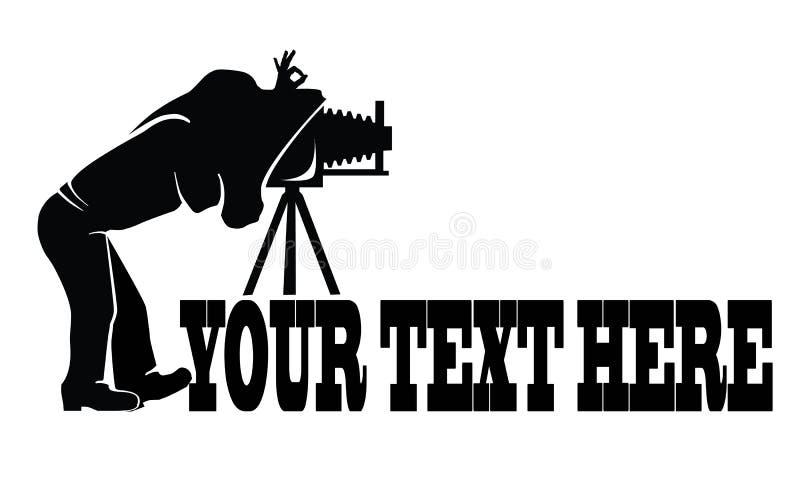 Photographe Logo illustration de vecteur