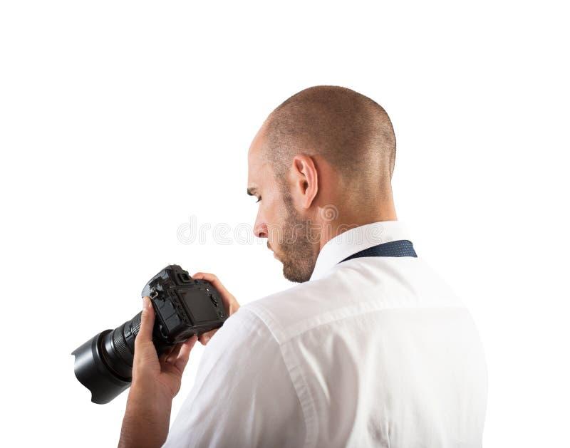 Photographe professionnel photographie stock