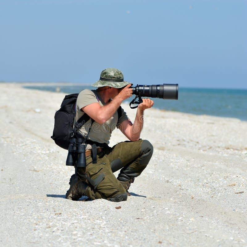 Photographe professionnel extérieur photos stock