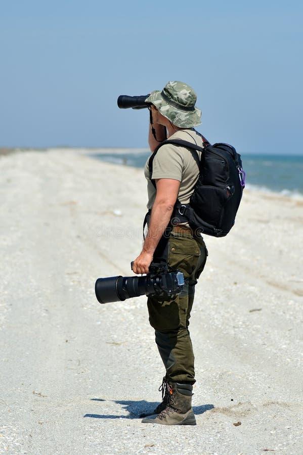 Photographe professionnel extérieur images stock