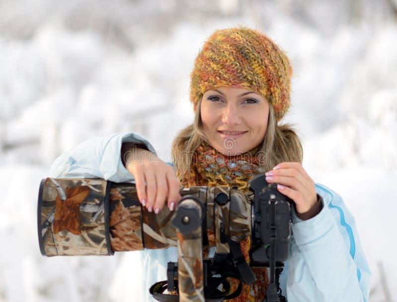 Photographe professionnel extérieur images libres de droits