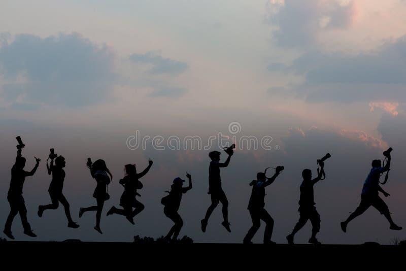 Photographe Silhouette images libres de droits