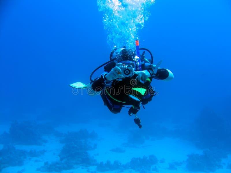 Photographe sous-marin photo stock