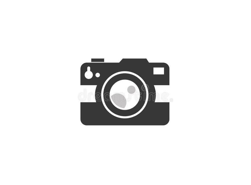 Photographe starego stylu kamery logo projekt ilustracja wektor