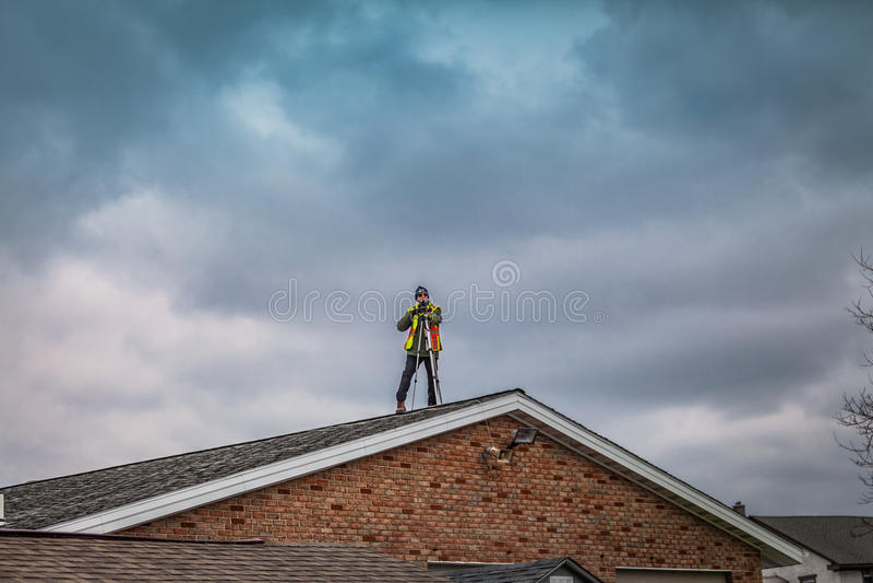 Photographe sur le toit image libre de droits