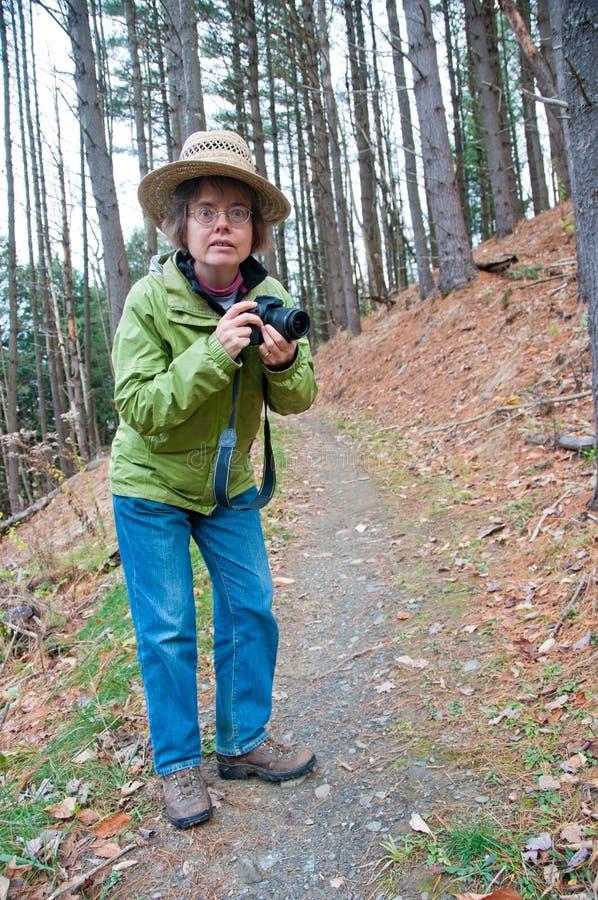 Photographe sur une hausse images libres de droits