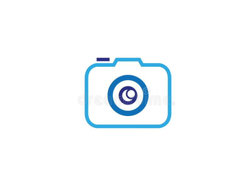 Photographe un ejemplo del diseño del logotipo de la cámara del viejo estilo ilustración del vector
