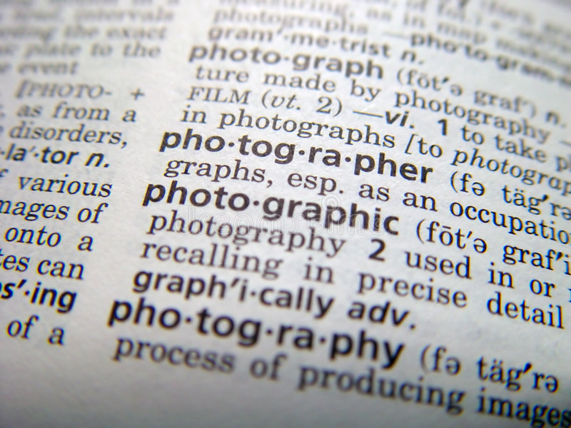 Download Photographer stock image. Image of photographer, dictionary - 188749