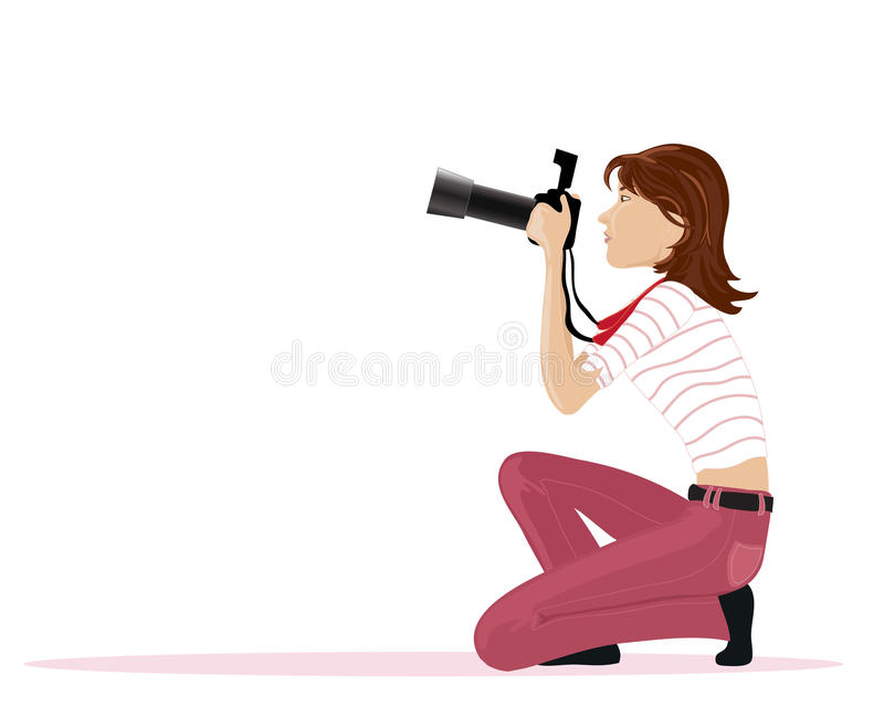Download Photographer stock vector. Image of vacation, tourist - 23109602