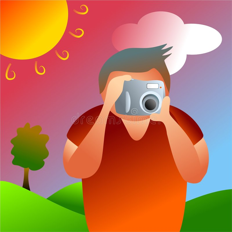 Photographer royalty free illustration