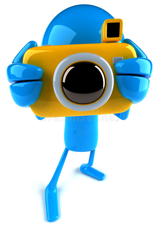 Photographer. 3D camera guy , 3D generated royalty free illustration